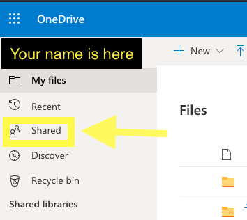 OneDrive Shared with me location