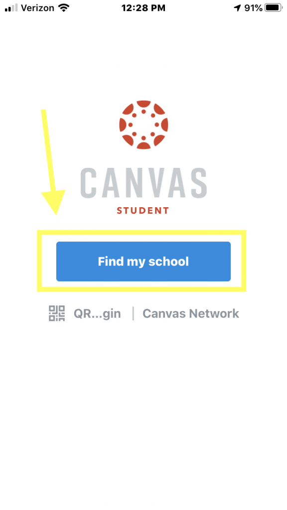 Canvas Welcome Screen