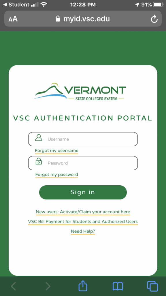 VSC Authentication Portal