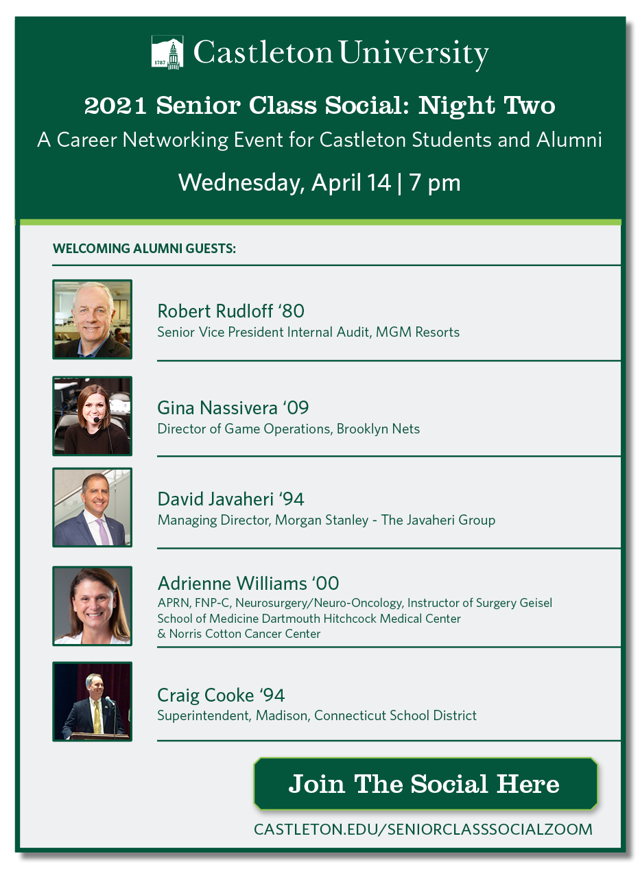 Don't miss this! Alumni Career Networking Event (April 13 & 14th)