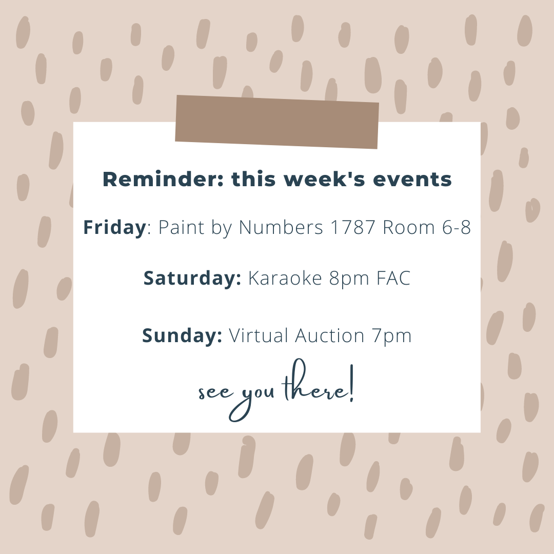 This Weekend's Events with CAB (April 16-18)