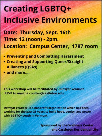 Creating LGBTQ+ Inclusive Environments Workshop