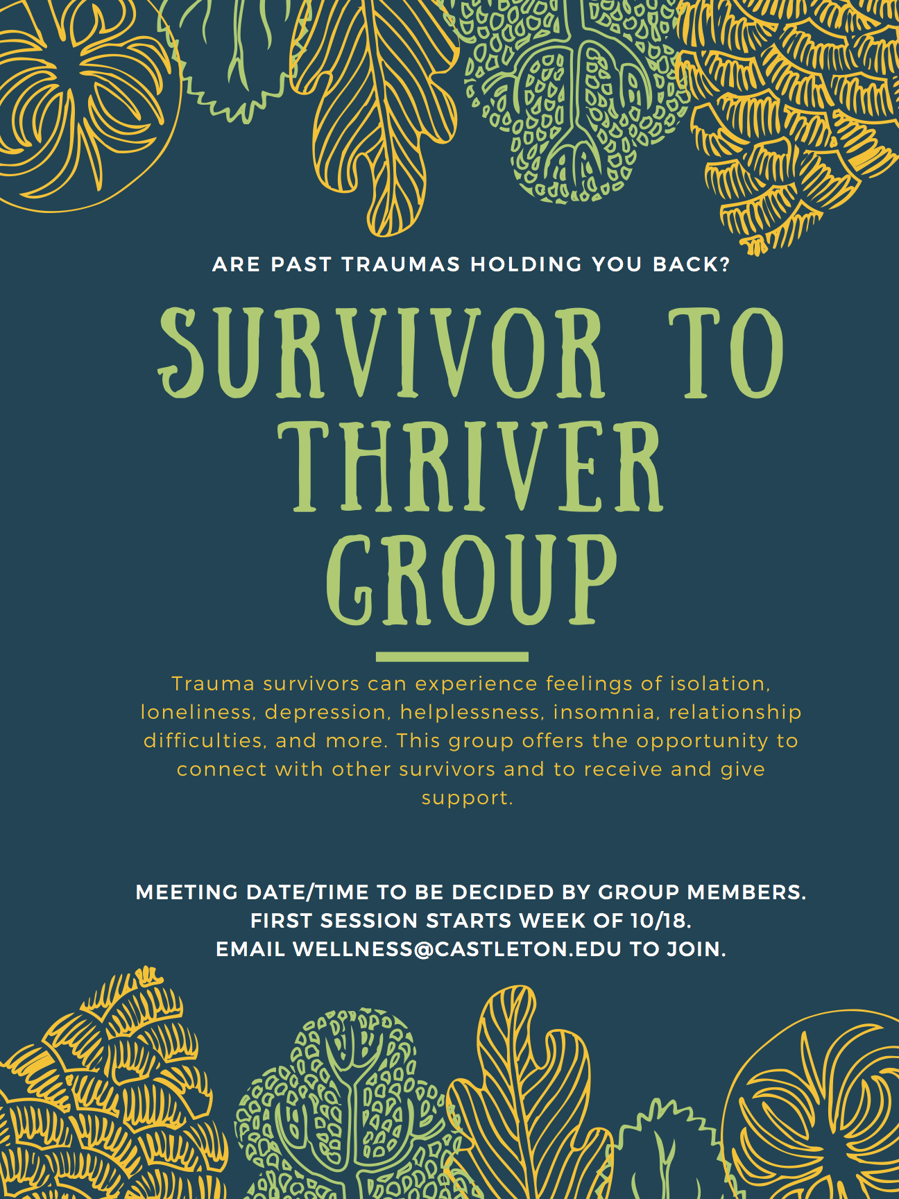 Trauma Survivor Support Group Offered