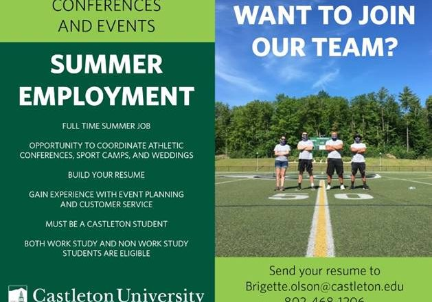 Looking for Summer Employment?