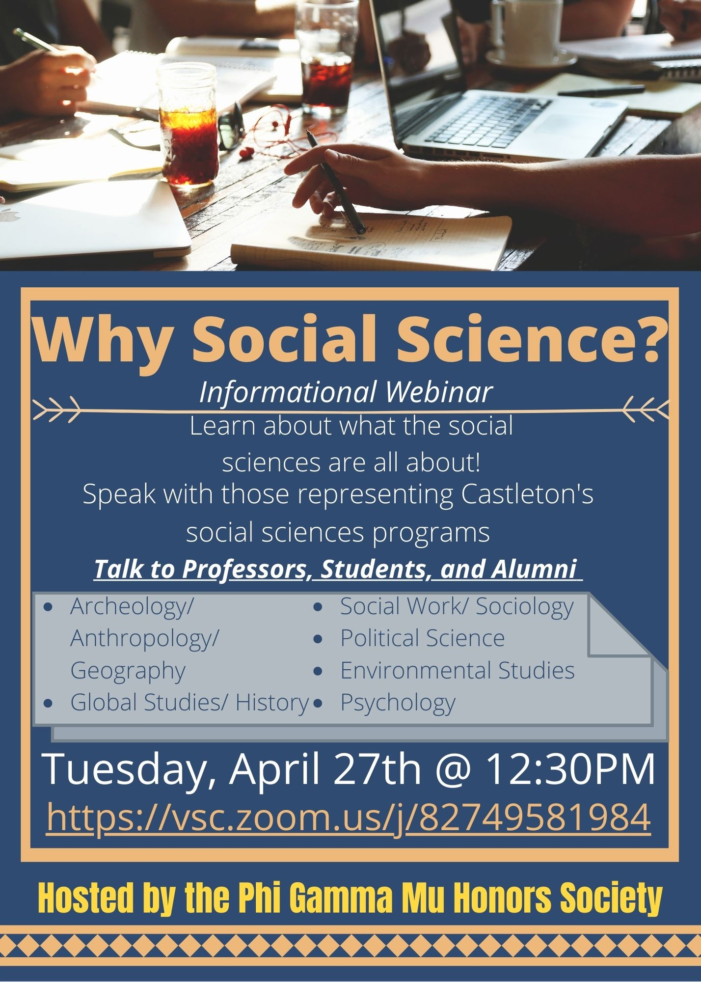 Why Choose Social Sciences Webinar (April 27)