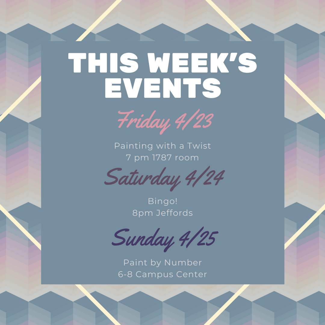 This Weekend's Events with CAB (April 23-25)
