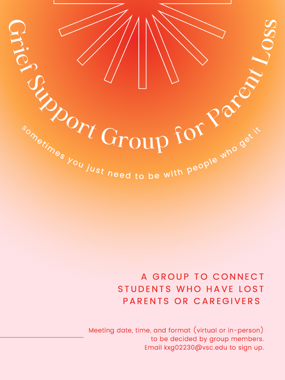 Grief Support Group for Parent Loss